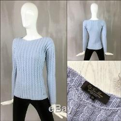 $1.3K+ Loro Piana Women BABY CASHMERE Cable Knit Jumper Sweater Pullover Size XS