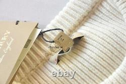 $1450 Authent BNWT BURBERRY Cable Knit Wool Cashmere Jumper/Sweater Womens Small