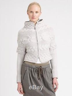 $2295 Brunello Cucinelli CashmereChunky Cable-knit cardigan XS