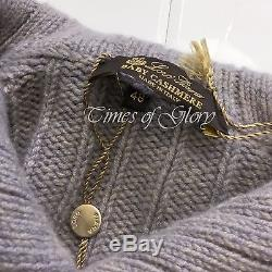 £2800 NEW Loro Piana Men BABY CASHMERE Cable Knit Jumper Sweater Size 48 Medium