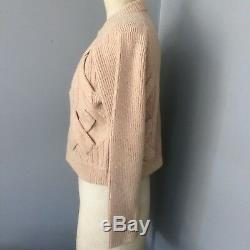 3.1 PHILLIP LIM Elaborate Cable Neutral Wool/cashmere Knit Jumper UK S RP £345