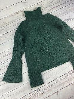 £850 Alexander McQueen Chunky Cable Knit Sweater, Pure Wool Jumper, Size S