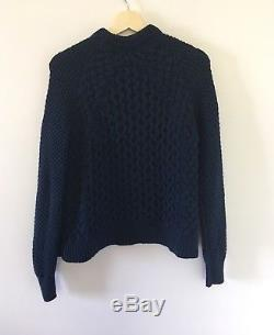 ACNE STUDIOS Ruth Air Cable Knit in Navy Size S