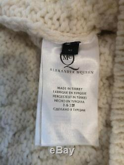 ALEXANDER MCQUEEN Cable Knit cashmere & wool sweater XS Ivory Jumper