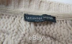 Alexander McQueen Chunky Beige Cable Knit Wool Cardigan S 4 6 Classic