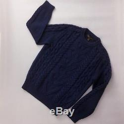 Auth Louis Vuitton Mens CASHMERE Wool Chunky Cable Knit Cardigan Sweater Size M