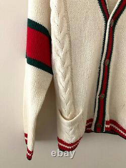Authentic GUCCI Oversize cable knit cardigan size L