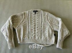 Authentic Isabel Marant VERSUS Cable-Knit Sweater Grey FR34 NWOT
