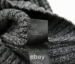 BARBOUR Mens Cable-Knit 100% Wool Roll Neck Jumper size S Grey