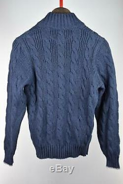 BRUNELLO CUCINELLI Men's Heavy Cable Knit Cardigan Sweater Jacket 50/M New
