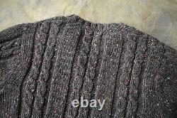 Brilliant Howlin' Donegal Cable Knit Wool Jumper Size L Made in Ireland Aran