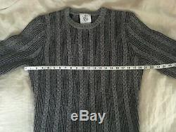 Brooks Brothers Black Fleece Cable Knit Wool Sweater BB1 Thom Browne