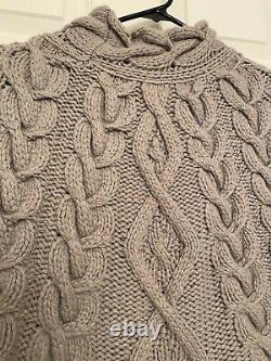 Brunello Cucinelli 100%Cashmere Chunky Cable Knit Sweater M