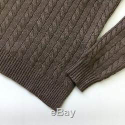Brunello Cucinelli Women CASHMERE Cable Knit Long Jumper Sweater Pullover Size S