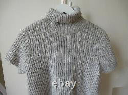 Brunello Cucinelli short sleeve cable knit jumper LARGE