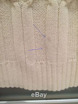 Burberry Cable Knit Cream Wool & Cashmere Sweater Small Excellent MOVING SALE