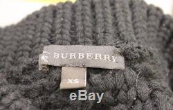 Burberry Prorsum Stunning Black Chunky Cable Knit Sweater size xs