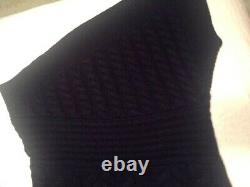 Burberry Runway One-shoulder Cable Knit Cashmere Sweater In Navy Size M