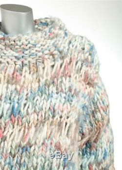 CHLOE Womens SOLD OUT Chunky Yarn Cable Knit Mock Neck Oversized Sweater S
