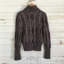 Christian Dior Cable Knit Turtleneck Sweater Size XL