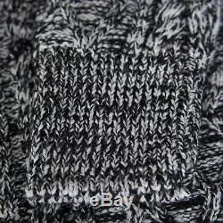 DIOR HOMME 1050$ Cable Knit Jumper In Gray & Black Wool
