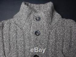 ERMENGILDO ZEGNA PURE CASHMERE button sweater size M 50 Italy Cable Knit