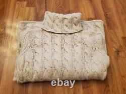 Emerson Fry Emersonmade cable-knit cotton turtleneck sweater ivory EUC size XS