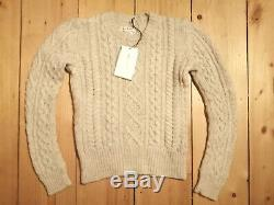 Etoile Isabel Marant Nilsen Sweater Jumper Knit Arran Cable 100% Wool NWT