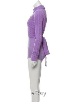 GCDS Cable Knit Mock Neck Bodysuit with Tags