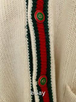 GUCCI Oversize cable knit cardigan size S