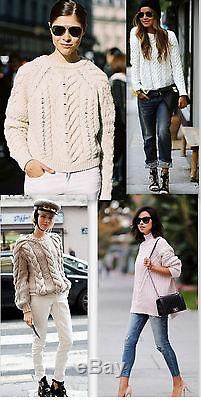 GUCCI chunky ivory white cashmere wool cable knit crew neck sweater S 42 780$