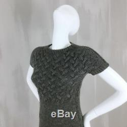 Gucci ALPACA WOOL Chunky Cable Knit Slim Jumper Sweater Pullover Dress Size S 4