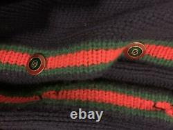 Gucci Cable Knit Cardigan Navy