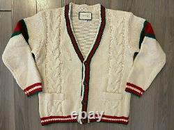 Gucci Cable Knit Cardigan off white sz S