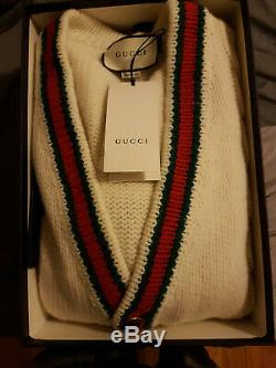 Gucci Oversize Cable Knit Cardigan Men Large-100% Authentic Receipt of Purchase