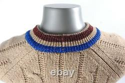 Gucci Web-striped Cable-knit Wool Cardigan