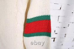 Gucci cable knit cotton cardigan M