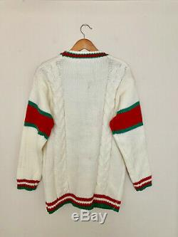 Gucci sweater wool cable knit Cardigan oversize fit size M