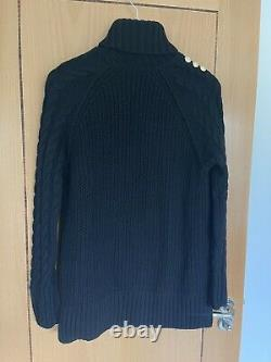 Holland Cooper Greenwich Cable Knit Black XS