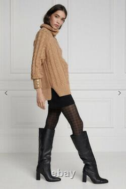 Holland Cooper Greenwich Cable Knit Camel XS