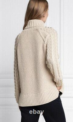 Holland Cooper Greenwich Cable Knit Jumper Size XS BNWT Oatmeal