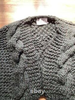 I Love Mr Mittens Cable Knit Bomber XS/S
