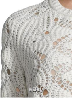 INHABIT Cashmere Open-Knit Sweater Ivory M NWT $610