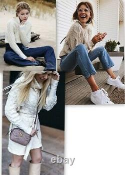 ISABEL MARANT 580$ cashmere white ivory chunky cable knit crew neck jumper S
