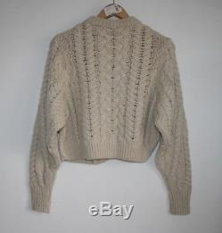 ISABEL MARANT Versus cable-knit wool sweater FR38 RARE