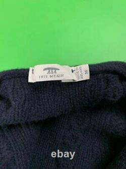 Inis Meain Mens Wool / Cashmere Cable Knit Buttom-Up Cardigan Sweater size M