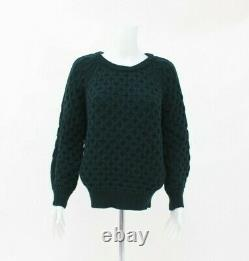 Isabel Marant 100% Wool Green Cable Knit Jumper Size 38 UK 10