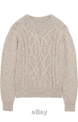 Isabel Marant Gabao cable knit Alpaca-blend Sweater 36 NWT