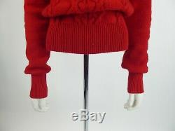 Isabel Marant Red Cable Knit Sweater Jumper Size FR 38 UK 10