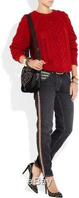 Isabel Marant Vichy Cable Knit Sweater. Color Is Rogue. FR 40. HARD TO FIND